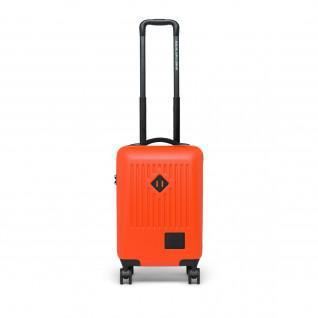 Herschel Handel tragen auf Zinnoberrot Orange Koffer