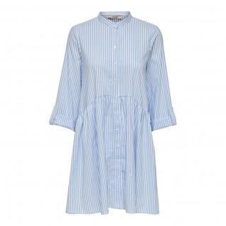 Only Ditte Leben Streifen Shirt Kleid 3/4 Ärmel