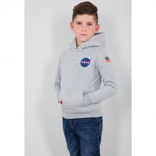 Sweatshirt mit Kapuze Kind Alpha Industries Space Shuttle