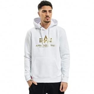 Alpha Industries Sweatshirt mit Kapuze und Druck