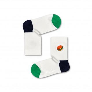 Glückliche Socken Hamburger Stickerei