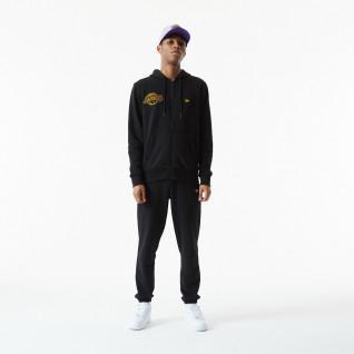Sweatshirt à capuche New Era NBA Chain Stitch Los Angeles Laker