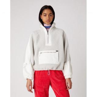 Sweatshirt Frau Wrangler Denim Sherpa Pop Over