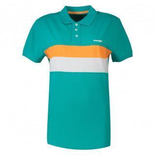 T-shirt Wrangler stripe polo lagoon